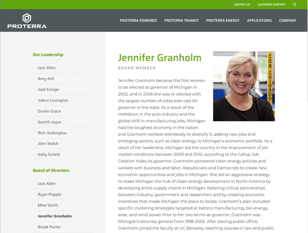 Proterra Jennifer Granholm proterra Biografie Thema: Diese Elektro-Aktie KAUFE ich 2021